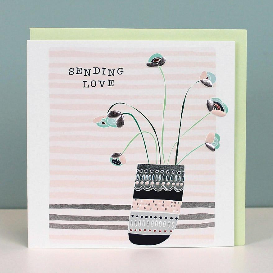 Sending Love thinking of you card (Available as a single card or pack of 4)