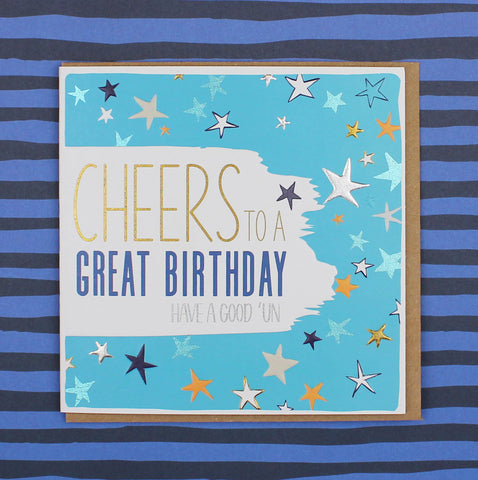 Cheers to a Great Birthday Card (BS15)