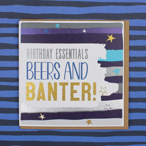 Birthday Beers and Banter, Birthday Card (BS16)