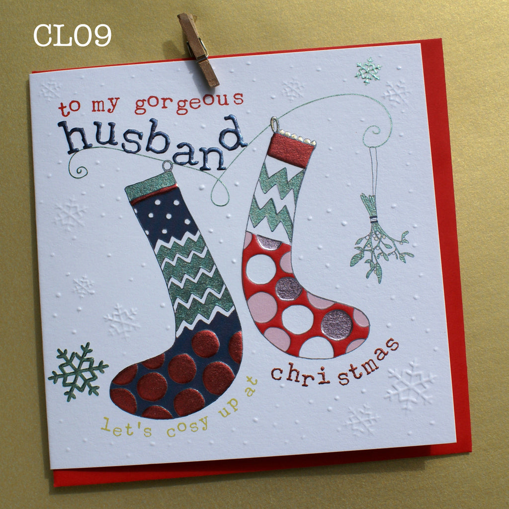 Christmas Card - Gorgeous Husband