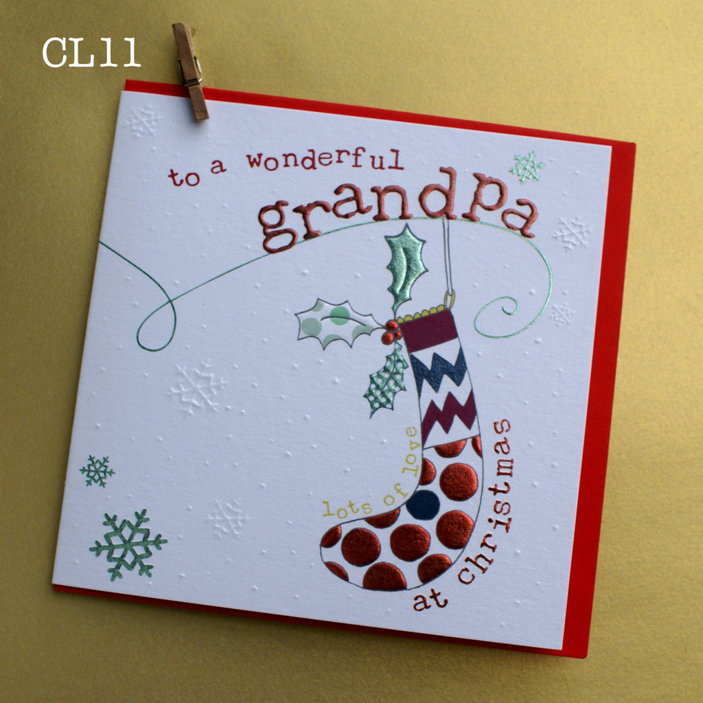 Christmas Card - Wonderful Grandpa