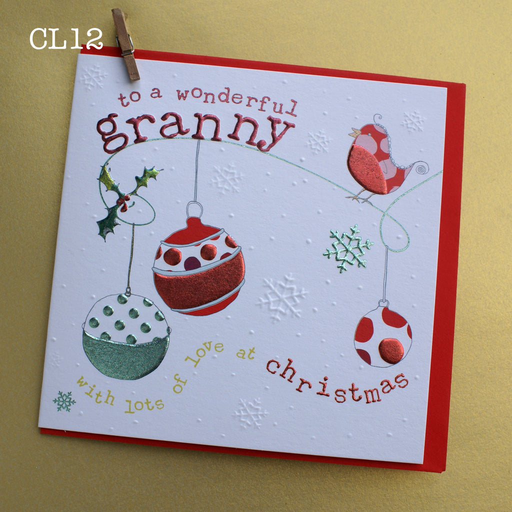 Christmas Card - Wonderful Granny