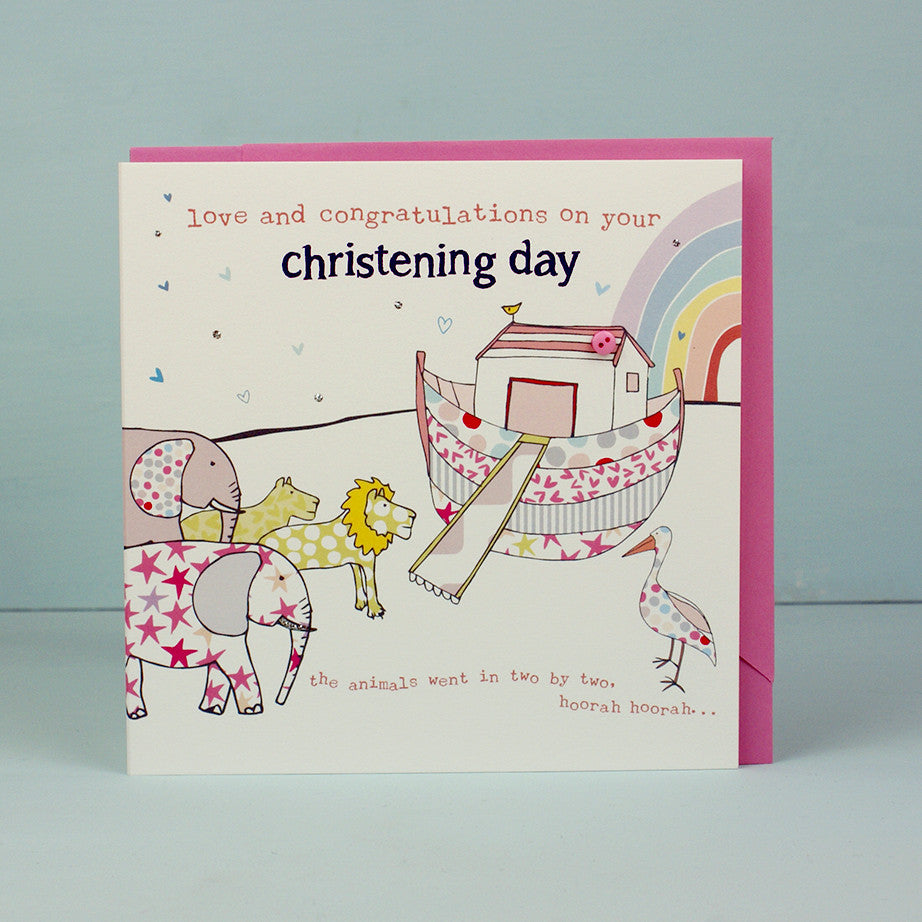 Greeting card on your christening day girl molly mae on your christening day girl m4hsunfo