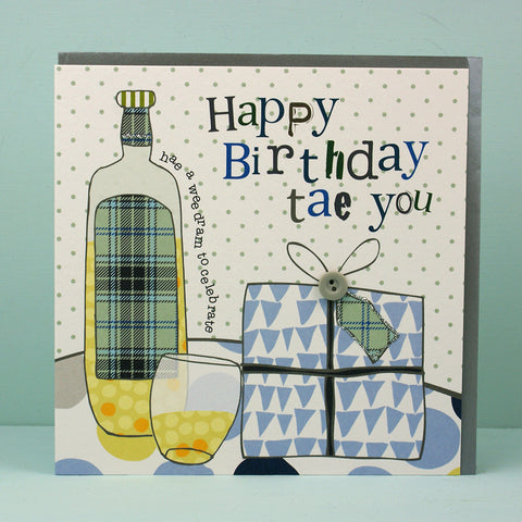 Happy Birthday bottle and gift