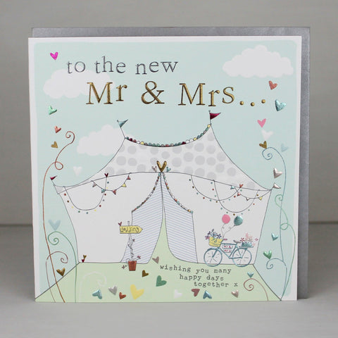 To the new Mr & Mrs wedding card