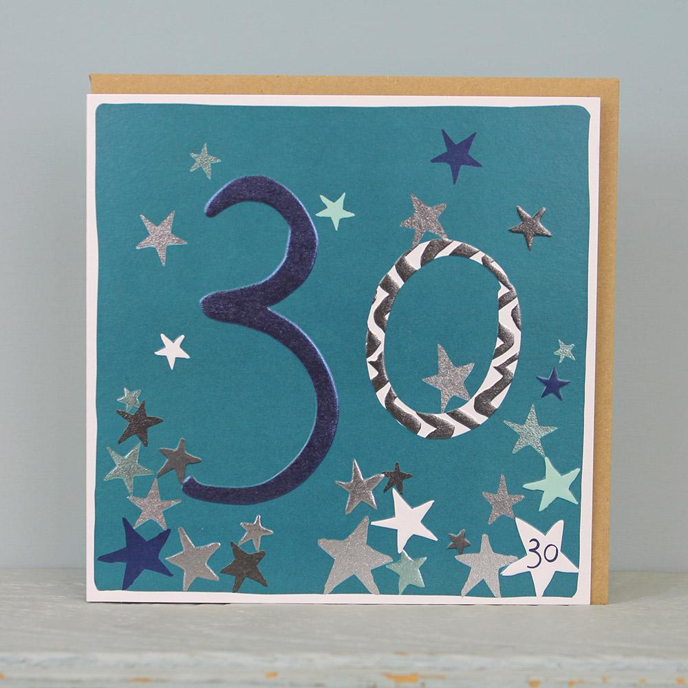 30th Birthday card - stars