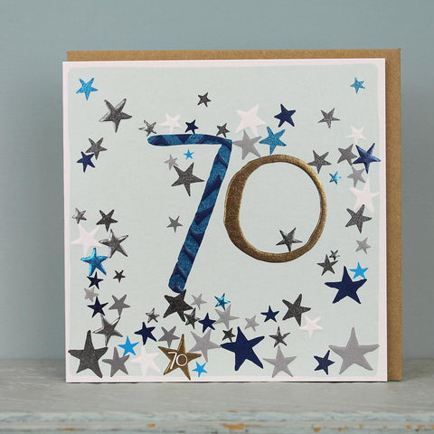 70th Birthday card - stars