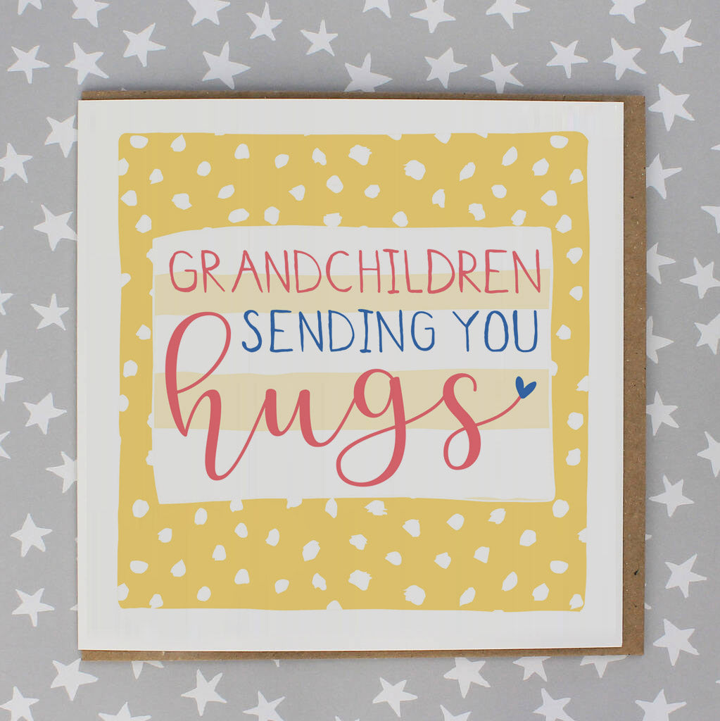 Sending Hugs Grandchildren - spots (IR138)