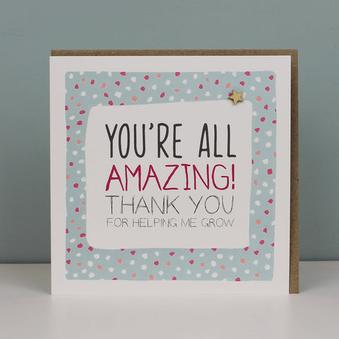 You're All Amazing, Thank You Card (IR58)