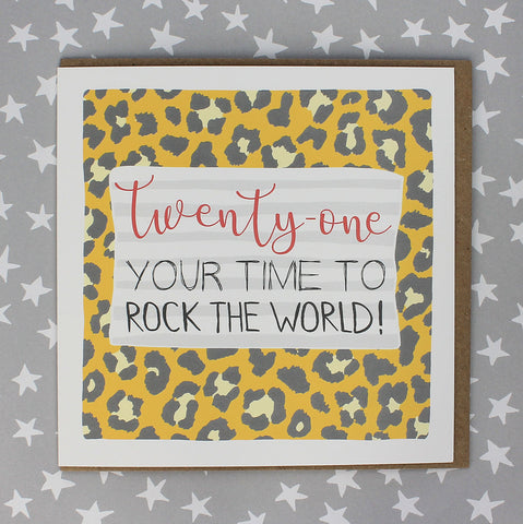 21 Your time to rock the world (Leopard Print) (IR78)