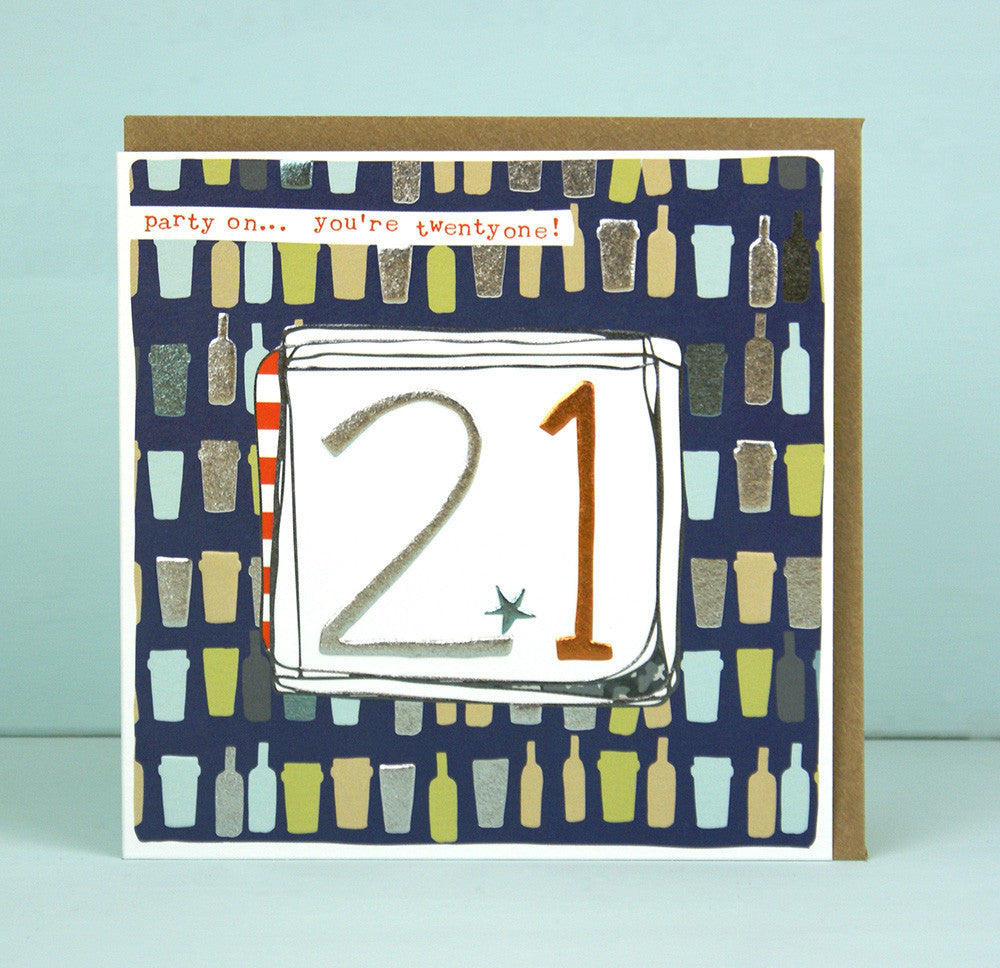 Male 21st Birthday Card
