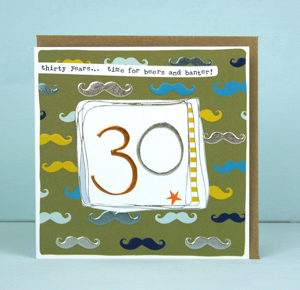 Male 30th Birthday Card