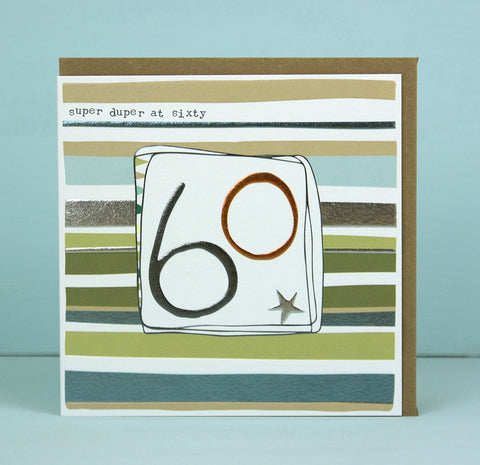 Male 60th Birthday Card