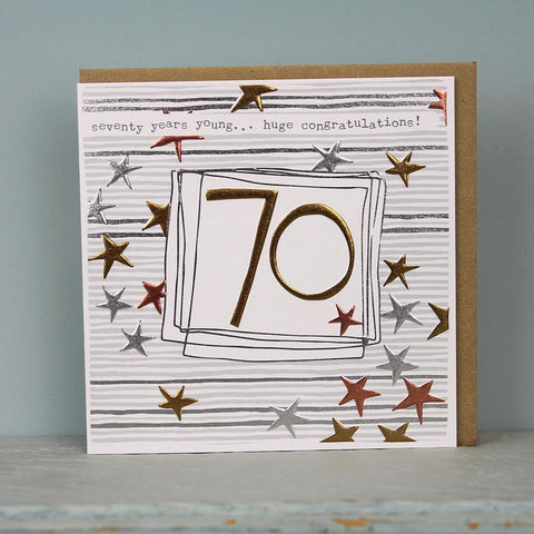 70th Birthday Card