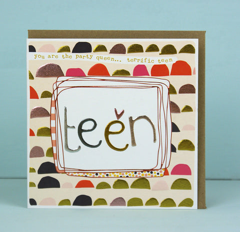 Girl teen Birthday Card (LF12)