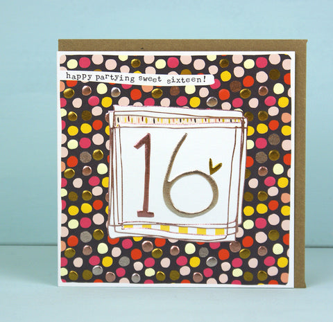 Girl 16th Birthday Card