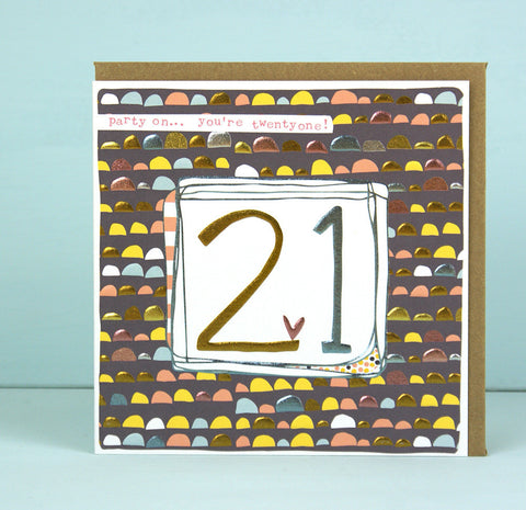 Female 21st Birthday Card