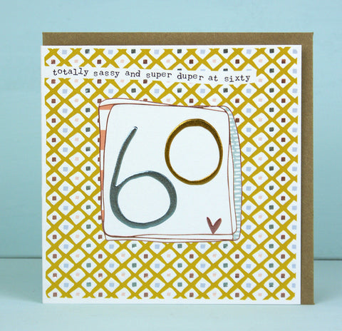 Female 60th Birthday Card