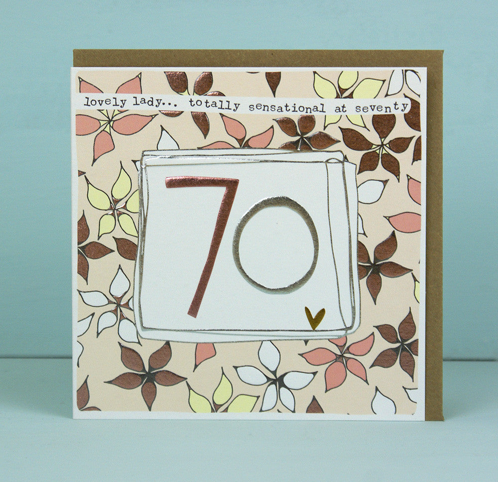 Female 70th Birthday Card