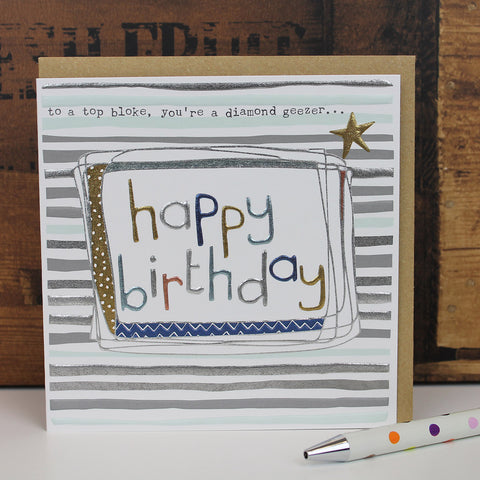 Mixed pack of 5 Male Birthday Cards