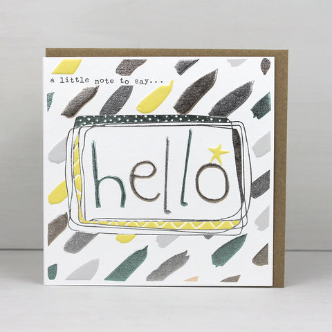 'Hello' Pack of 4 cards (LF84 PACK)