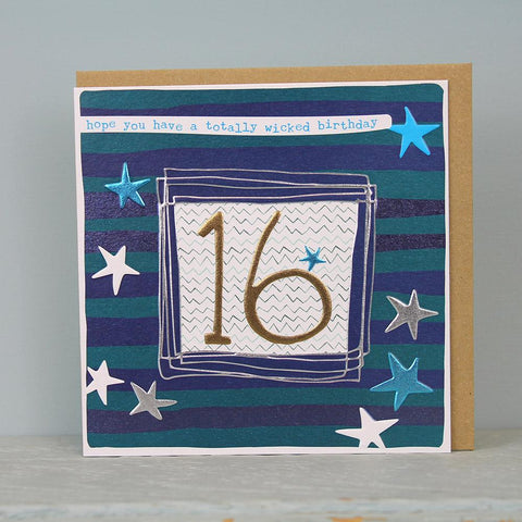Boy 16th Birthday Card