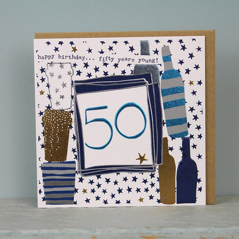 Male 50th Birthday Card