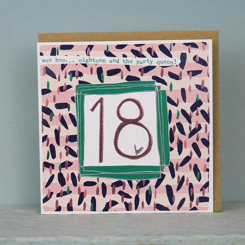 Female 18th Birthday Card