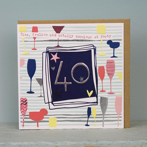 Female 40th Birthday Card