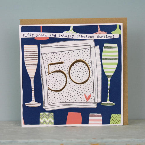 Female 50th Birthday Card
