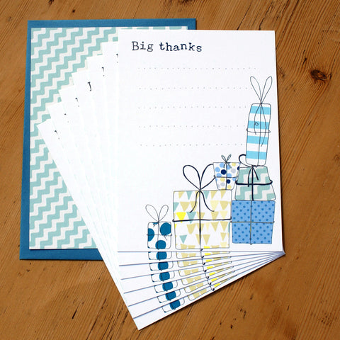 8 Card Pack - Big thanks presents blue