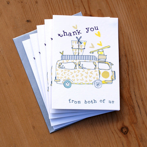 5 Mini Card Pack - thank you from us both