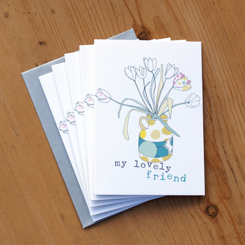 5 Mini Card Pack - lovely friend