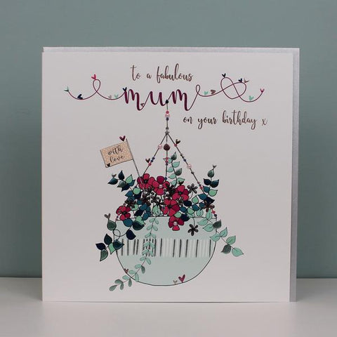 Large Fabulous Mum on your birthday card