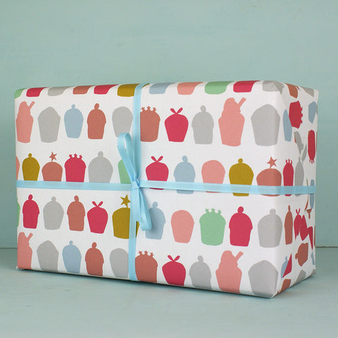 Cakes Gift Wrap (2 sheets)