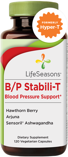 Buy B/P Stabili-T online. Blood pressure supplement containing Hawthorn Berry, Arjuna, Ashwagandha. Helps promote healthy blood circulation and normal blood pressure. 120 Capsules.