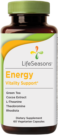 Buy Energy online. Natural caffeine supplement containing Green Tea, Cocoa Extract, L-Theanine, Theobromine, Rhodiola. 60 Capsules.