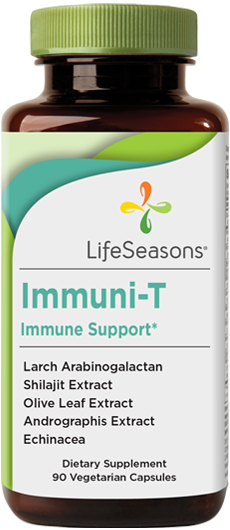Buy Immuni-T online. Immune system supplement containing Arabinogalactan, Shilajit, Olive Leaf, Andrographis, Echinacea. Formula helps strengthen your immune system. 90 Capsules.