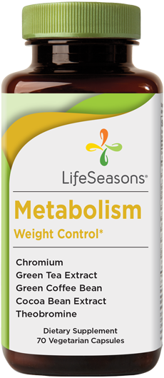 Buy Metabolism supplement online. Energy & weight management support containing Chromium, Green Tea Extract, Green Coffee, Cocoa Bean Extract, and Theobromine. Supports weight loss & helps boost energy. 70 Capsules.