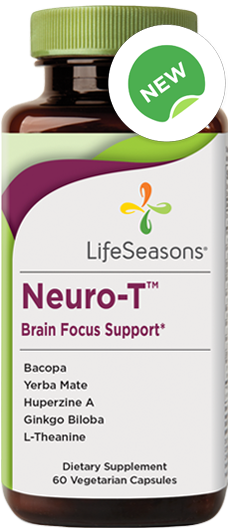 Buy Neuro-T online. Focus supplement containing Bacopa, Yerba Mate, Huperzine A, Ginkgo Biloba, L-Theanine.  60 focus pills.