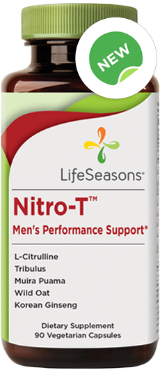 Buy Nitro-T online. Nitric oxide supplement containing Pomegranate, L-Citrulline, Tribulus, Muira Puama, Oatstraw, Ginseng.