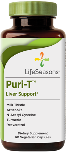 Buy Puri-T online. Liver detox supplement containing Milk Thistle, Artichoke, N-Acetyl Cysteine, Turmeric, Resveratrol to help support liver detox. 90 Capsules.