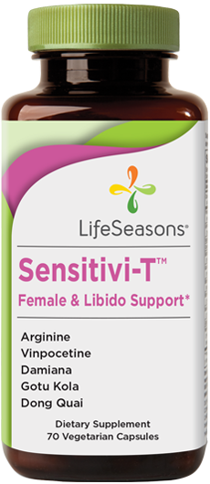 Buy Sensitivi-T online. Female libido supplement containing Theobromine, L-Arginine, Ginseng, Damiana. Helps improve female sex drive. 70 Capsules.