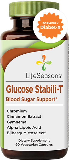 Glucose Stabili-T. Blood sugar support supplement to help glucose levels. 90 Vegicaps in one bottle. Buy Glucose Stabili-T supplement online & get FREE shipping.