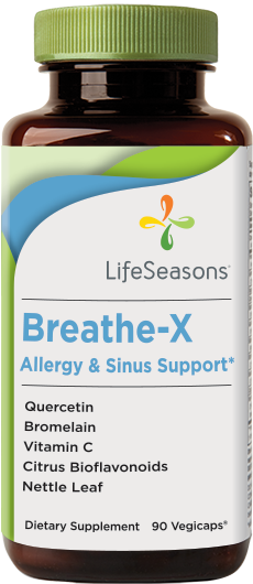 Buy Breathe-X online. Sinus & Allergy supplement containing Quercetin, Bromelain, Vitamin C & more. 90 Capsules.
