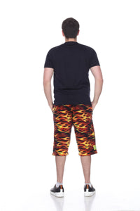 Mens Fleece Shorts - Hot Rod
