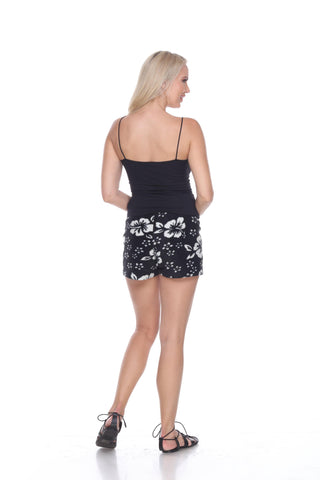 Ladies Duke Fleece Shorts - Black Hibiscus