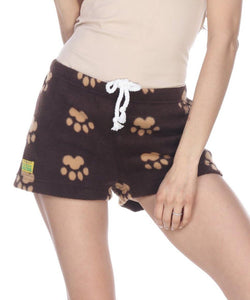 Ladies Duke Fleece Shorts - Brown Bears