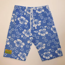 Load image into Gallery viewer, Mens Fleece Shorts - Blue Hibiscus