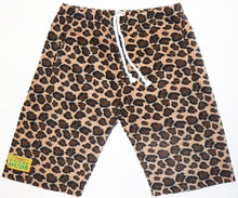 Load image into Gallery viewer, Mens Fleece Shorts - Cheetah
